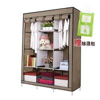 組合衣櫃 衣櫥 衣物收納│超大三排加寬加高8格防塵衣櫥【MM-A009-2】 0