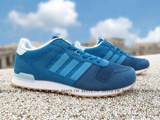 《特價1390》Shoestw【S76241】ADIDAS ORIGINALS ZX 700 J 水藍 麂皮 女生【3月會員神券 | 單筆滿2000元結帳輸入序號『Mar-Fit』現折200元】