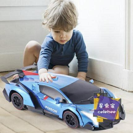 遙控玩具 遙控變形車感應變形汽車金剛無線遙控車機器人充電動男孩兒童玩具T 2色