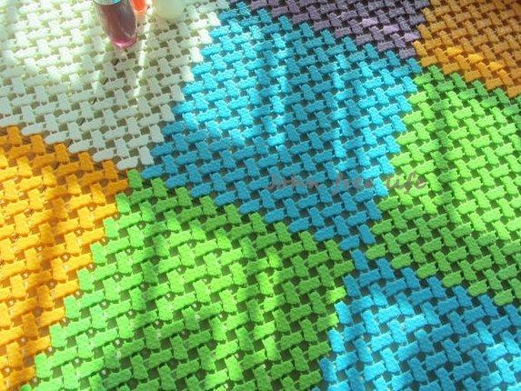 約翰家庭百貨》【BB030】DIY腳丫自由拼接隔水按摩地墊 浴室防滑地墊 巧拼防滑墊 腳踏墊 6色可選