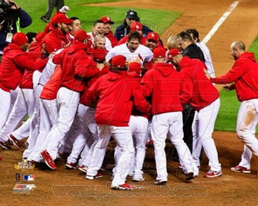 The St Louis Cardinals Celebrate Winning Game 6 of the 2011 MLB World Series (#32) Photo Print (20 x 24) a31768003d38d25eeedcad1e600a1724