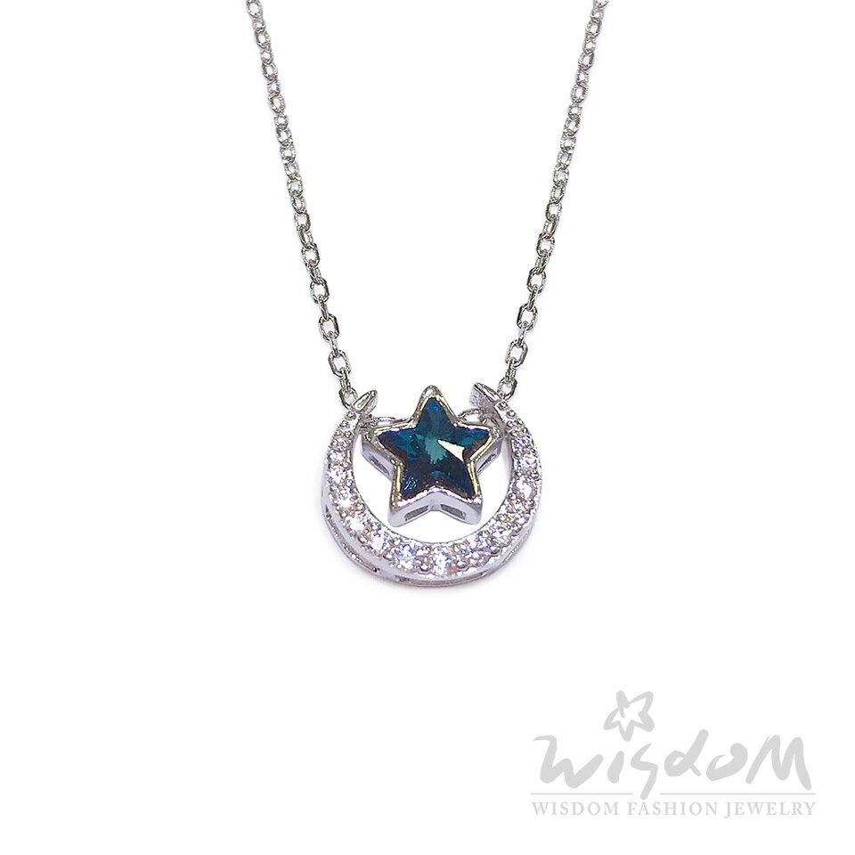 威世登時尚珠寶-幸福月光銀小套鍊 嫵媚耀眼 禮物推薦 ZSB00057-BFHX