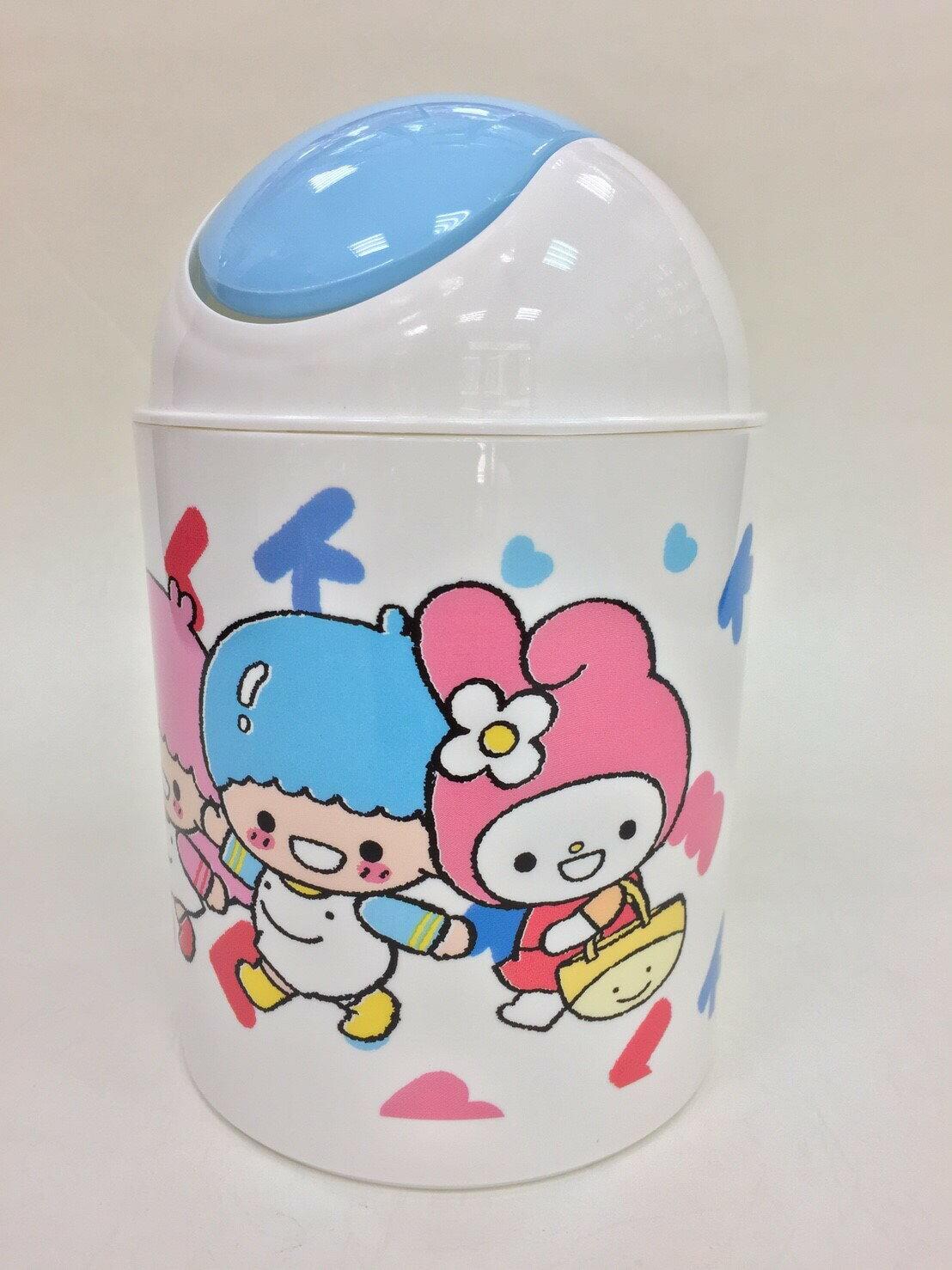 【真愛日本】17102300004 旋蓋圓筒垃圾桶-KT WEIWEI 三麗鷗 Hello Kitty 凱蒂貓 日用品
