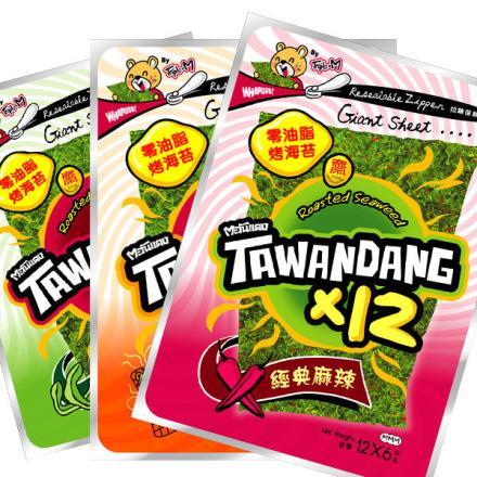 有樂町進口食品 泰國烤海苔 焦糖原味 72g 8858752600274 1