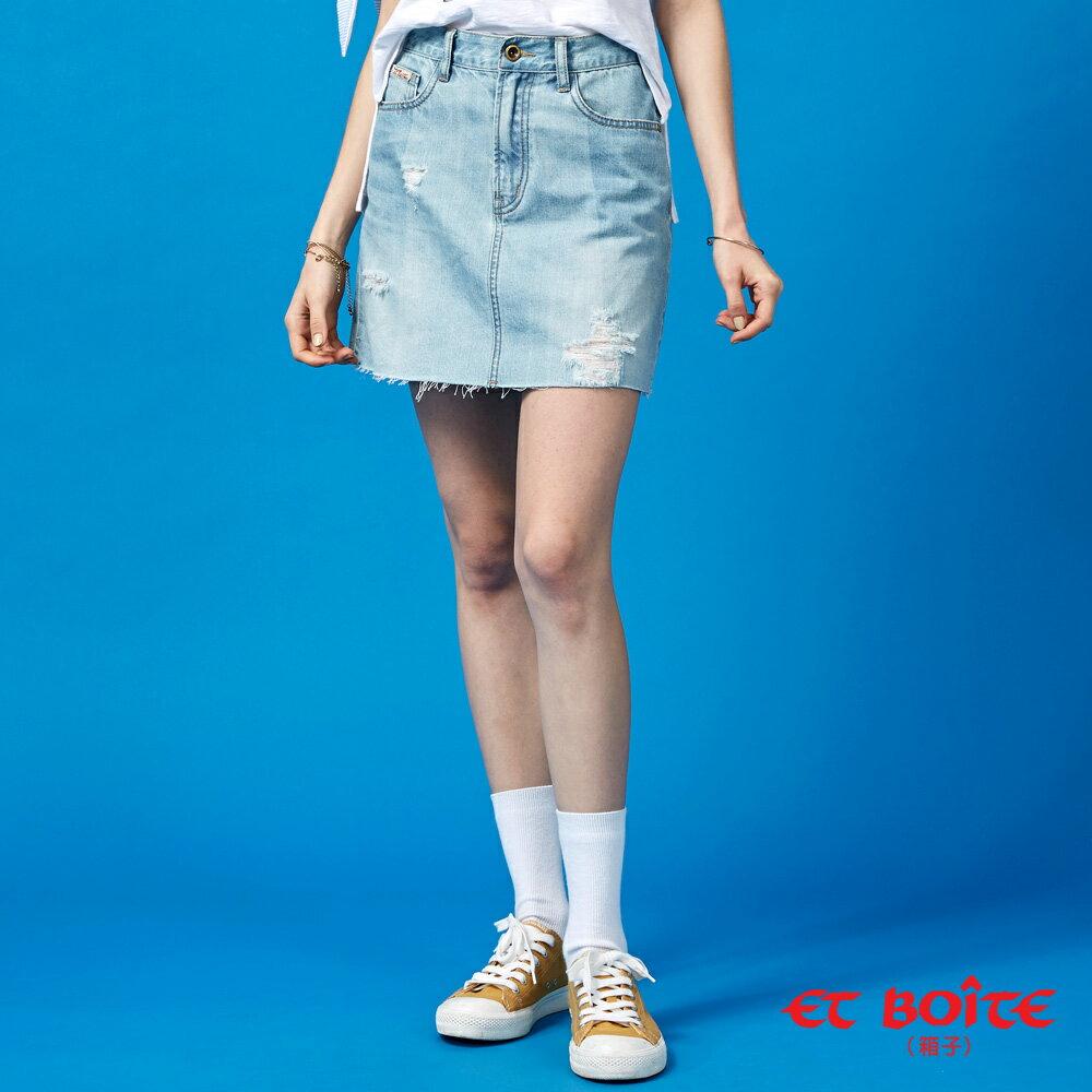 【春夏新品】激光刷破牛仔短裙- BLUE WAY  ET BOiTE 箱子 0