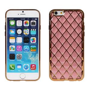 Ultimate- iPhone 6/6S PLUS 彩透菱格紋 電鍍 立體手機軟殼 外殼防摔抗震後背蓋保護殼 清水套 透明殼 透明軟殼