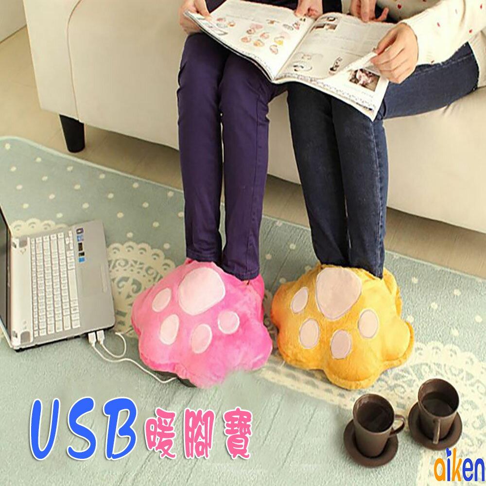 暖腳寶 暖腳枕 枕頭 抱枕 靠枕 造型抱枕 貓爪 USB 發熱抱枕 J1005-004 【艾肯居家生活館】