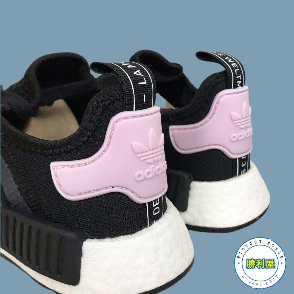 【ADIDAS】NMD R1 W 女鞋 休閒鞋 黑白 黑粉 BOOST 熱門款 B37649【勝利屋】 2