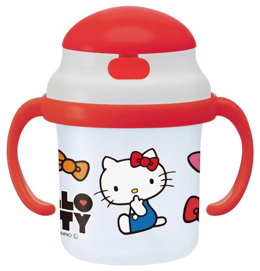 日本 Hello Kitty 吸管學習水杯( 有耳 ) 兒童水壺