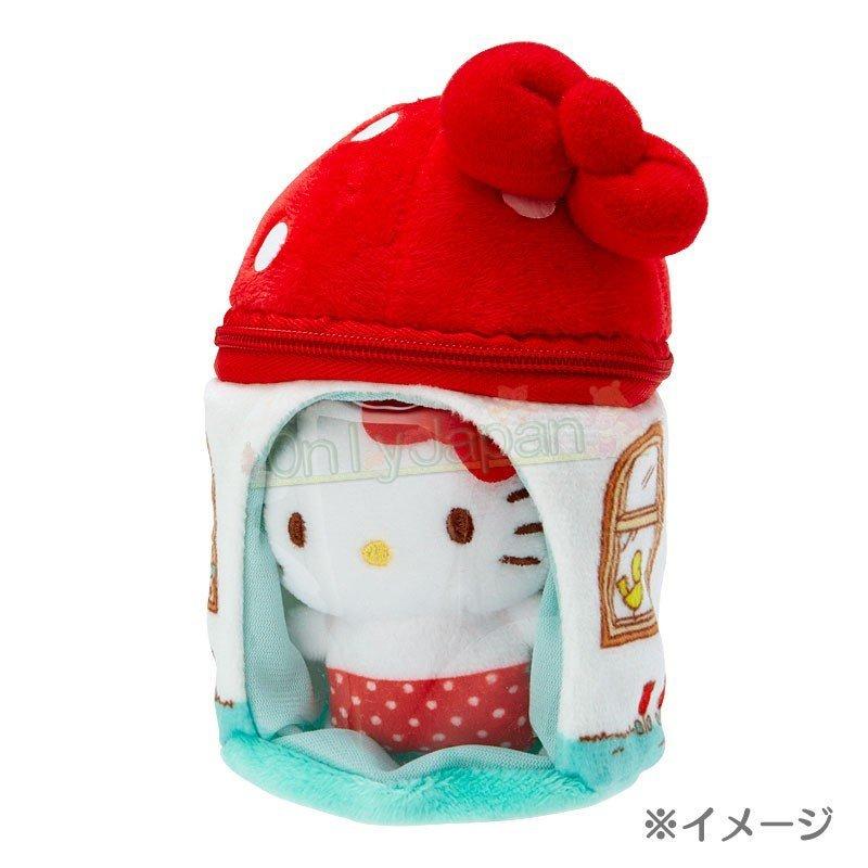 【真愛日本】4901610302804 絨毛手玉娃-KT紅ED91 凱蒂貓kitty 絨毛娃 手玉娃 娃娃 布偶 擺飾 收藏 禮物 3