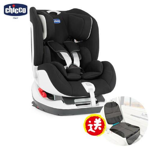 【本月加碼送汽座保護墊】義大利【Chicco】Seat up 012 Isofix汽車安全座椅-黑色