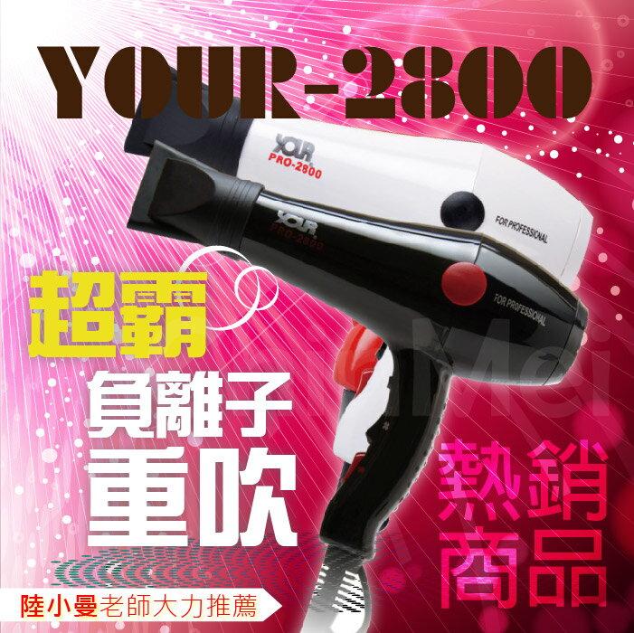 【晴美髮舖】華儂 YOUR-2800 超霸 負離子 重型 吹風機 小曼 老師 推薦 風超強 超快乾 經典 設計款【Chinmei】