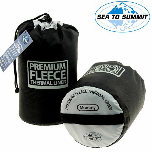 【【蘋果戶外】】Sea to summit AFLEECE 『內套/刷毛/黑』FLEECE LINER 單人刷毛睡袋內套 登山睡袋套 保暖 露營 自助旅行 STSAFLEECE