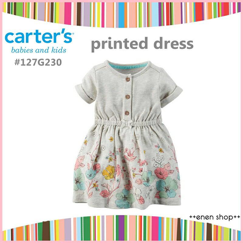 ++enen shop++ Carter's 米色花卉款小洋裝/小褲褲 #127G230 ∥ 12M/18M/24M