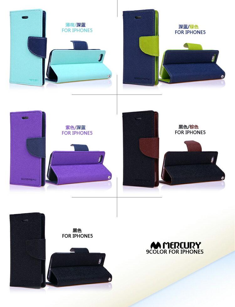 韓國Mercury雙色側翻手機皮套/可立式 7