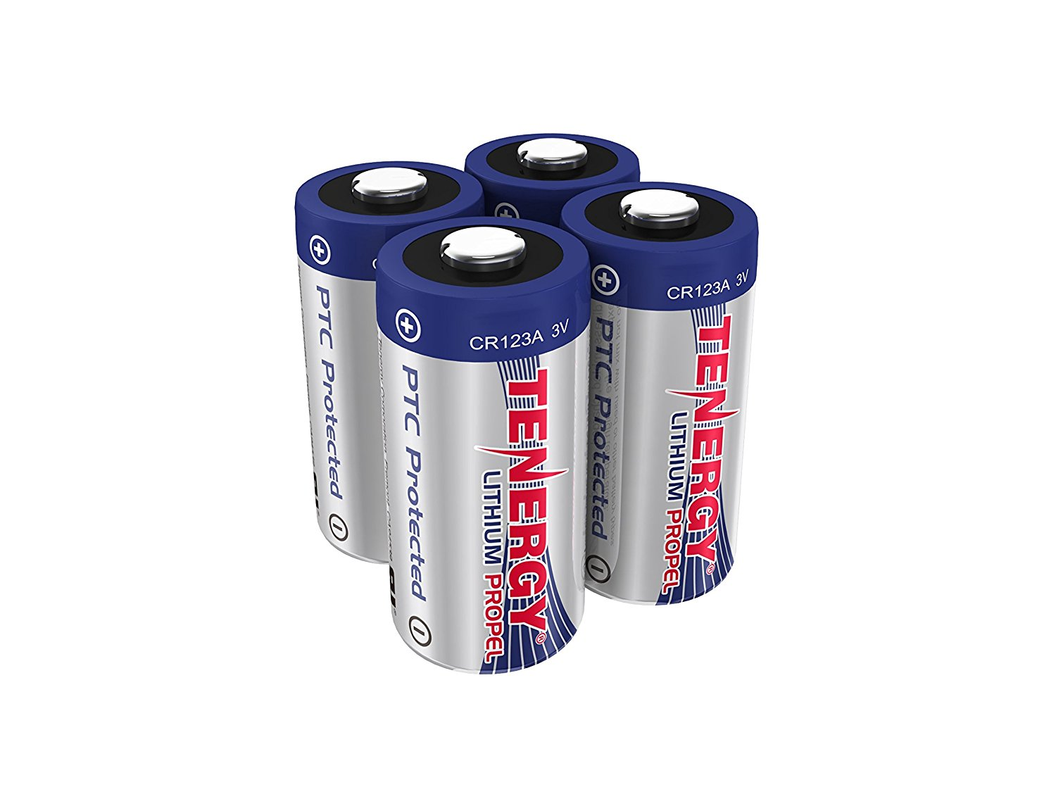 Tenergy Tenergy 3v Cr123a Lithium Batteries Ptc Protected 4 Pack