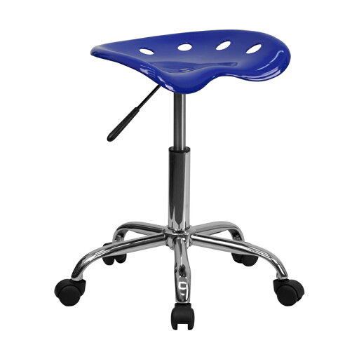 Offex Vibrant Nautical Blue Tractor Seat and Chrome Stool [OF-LF-214A-NAUTICALBLUE-GG] c5c95e2bc3ff20c8a64aad258b94610d
