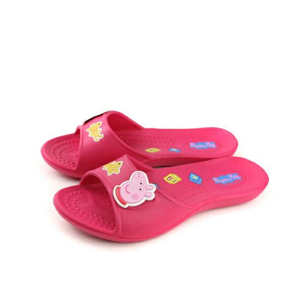 粉紅豬小妹 Peppa Pig 拖鞋 童鞋 桃紅色 中童 PG0037 no737