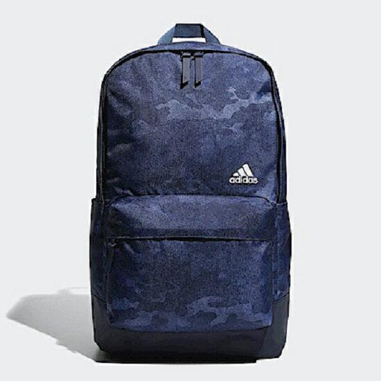 ADIDAS後背包雙肩迷彩休閒藍黑【運動世界】CV4933