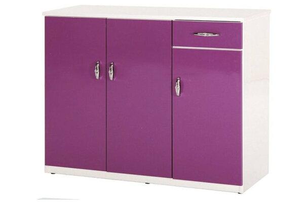 石川家居:【石川家居】864-02(紫白色)鞋櫃(CT-314)#訂製預購款式#環保塑鋼P無毒防霉易清潔