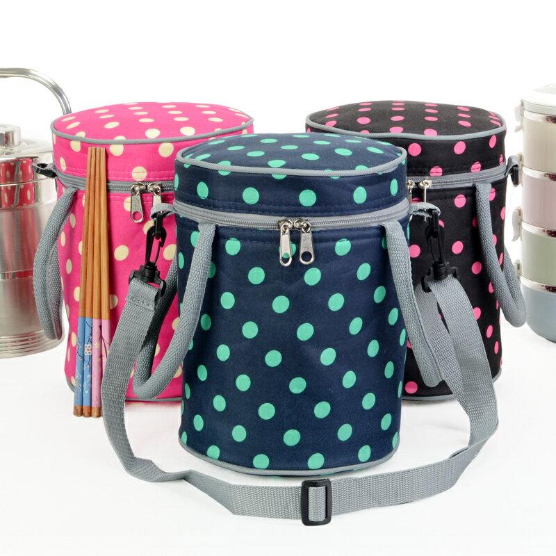 波點圓形加強保溫袋 防水保溫包 保冷袋 保冰袋 便當袋