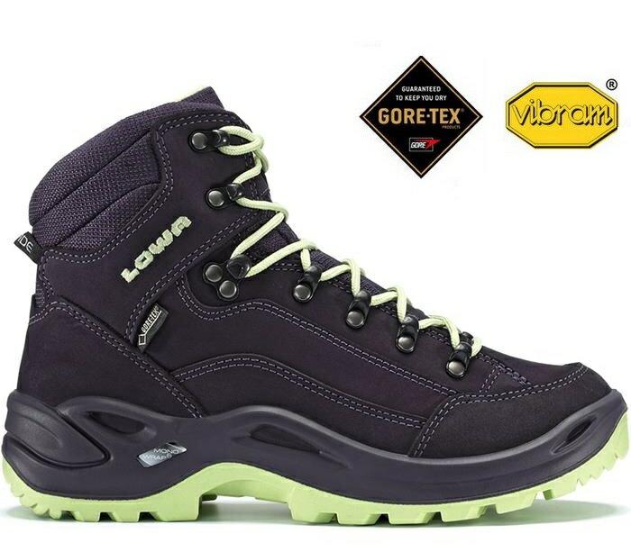 Lowa 中筒防水健行鞋/登山鞋Gore-tex Renegade GTX Mid 女 LW320945 5551紫/薄荷綠