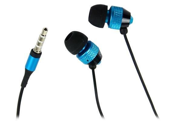 Blue 3.5mm Stereo In-ear Earphones Earbuds Handsfree For HTC iPad iPhone Samsung 1