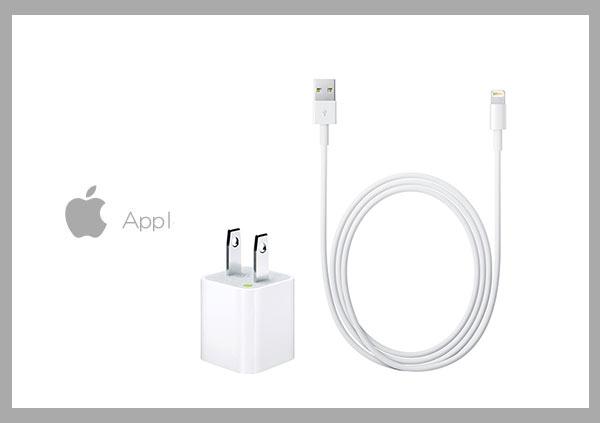 Mr ORIGINAL:AppleiPhoneiPad原廠5WUSB旅行充電器+Lightning對USB連接線組(1公尺)(綠標-密封袋裝)