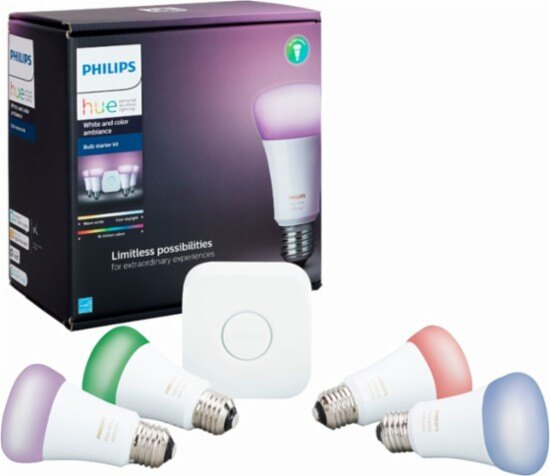 Philips Hue Starter Pack.Ce Overstock Philips Hue White And Color Ambiance A19 Led Starter