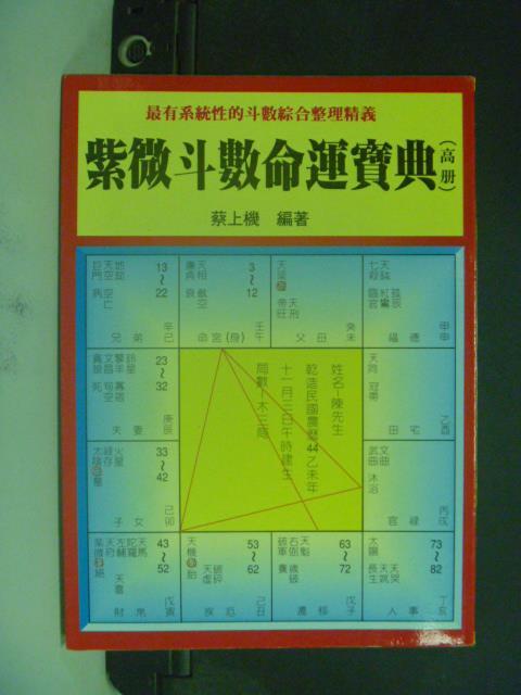 【書寶二手書T9/命理_JKC】紫微斗數命運寶典(高冊)_蔡上機