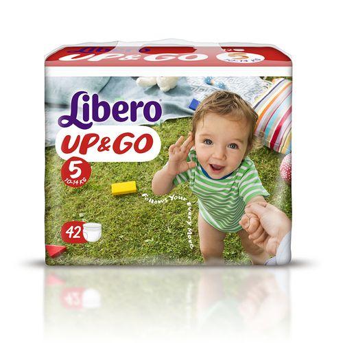 『121婦嬰用品館』麗貝樂 Libero 褲型紙尿褲(拉拉褲)(敢動褲)(尿布) L 5號-42片x6包/箱