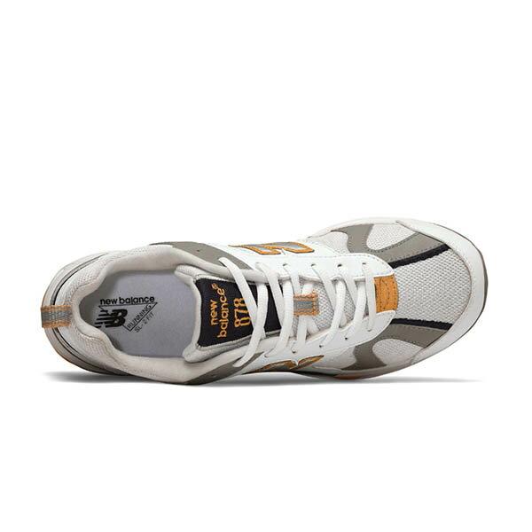 【NEW BALANCE】NB 878 復古鞋 休閒鞋 老爹鞋 經典復刻 中性 白黃 男女鞋 -CM878TCAD 2
