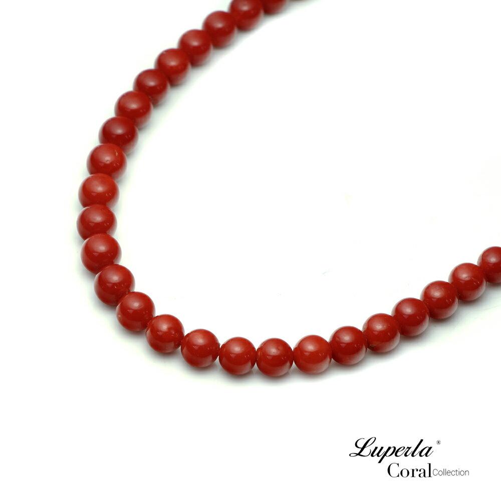 大東山珠寶 頂級天然全紅珊瑚 5.5-6mm圓珠項鍊 3