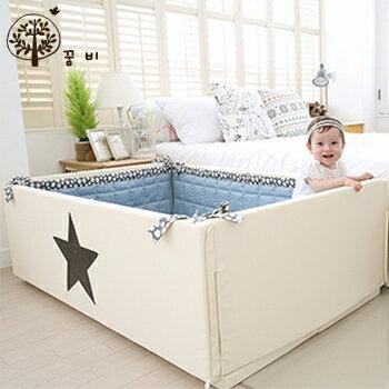 【淘氣寶寶】韓國DreamB多功能圍欄地墊式嬰兒床-大星星