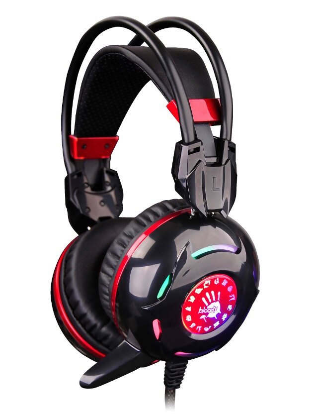 小婷電腦旗艦店 A4 雙飛燕 Bloody G300 黑 電競 霓彩炫光遊戲耳機麥克風