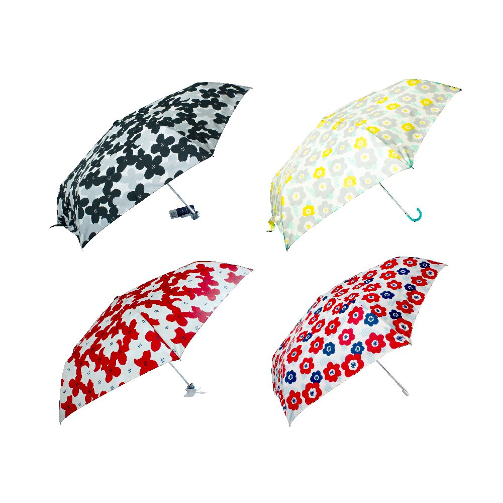日本Amusant Sous La Pluie 花紋摺疊雨傘55cm