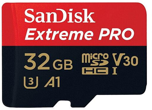 SanDisk Extreme Pro 32GB microSDHC 100MB/s A1 Class10 C10 U3 UHS-I 4K V30 667X 32G microSD micro SD SDHC Flash Memory Card SDSQXCG-032G + Multifunctional Protective Memory Case