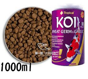 第一佳水族寵物  波蘭德比克Tropical 金魚錦鯉免疫蒜精顆粒飼料  1000ml