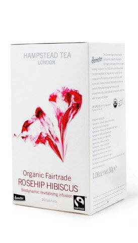 原裝進口有機茶包~玫瑰果洛神葵~英國漢普斯敦有機香草茶Hampstead Tea~玫瑰果洛神葵茶demeter認證