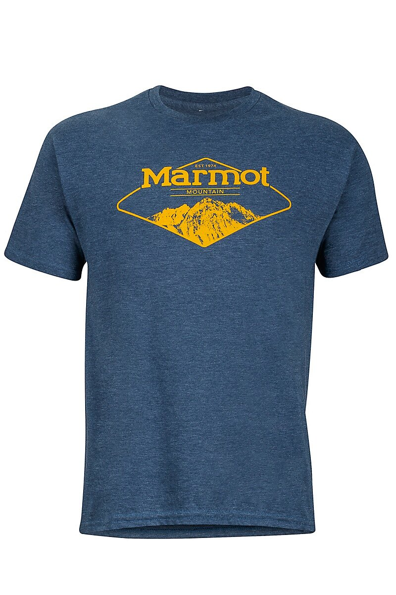├登山樂┤美國 Marmot Mountaineer Tee 快乾短袖上衣-Navy Heather # 43210-8550