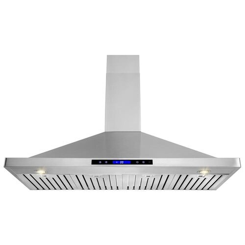 "48"" Stainless Steel Wall Mount Range Hood Touch Screen Display Light Lamp Baffle Filter 0"