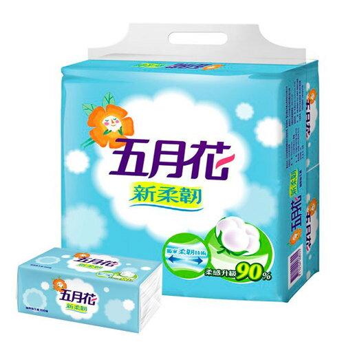 五月花MayFlower 新柔韌抽取式衛生紙 (100抽x10包)/串