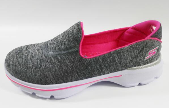 [陽光樂活] SKECHERS 中童鞋 GoWalk3 超軟Q底 灰雪花 送貼紙 81076LGRY