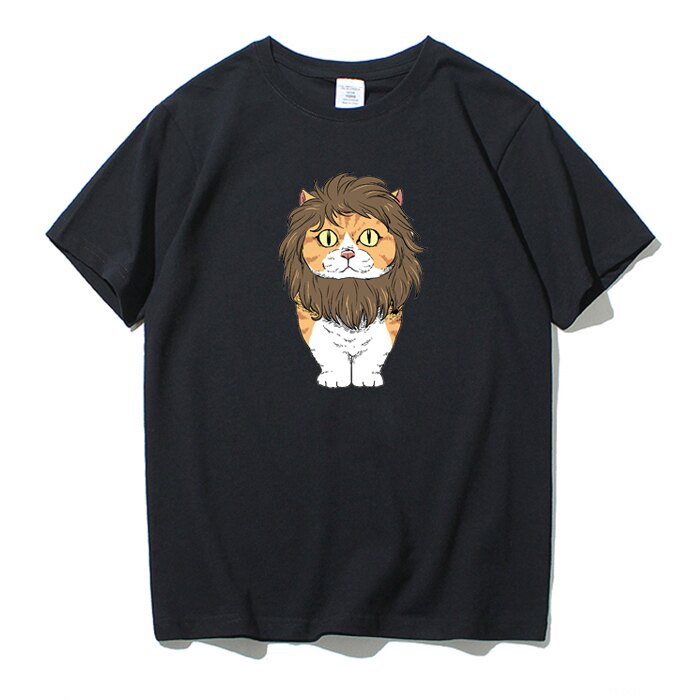 KUSO 搞笑 情侶裝 純棉短T MIT台灣製【YC686-13】萌寵 戴獅子鬃毛 橘貓  動物萌寵 快速出貨 6