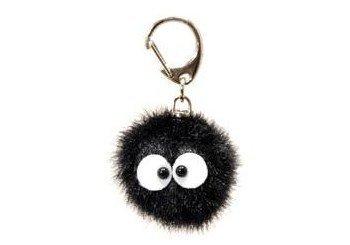 【真愛日本】 14112300064 絨毛鎖圈-黑小鬼 龍貓 TOTORO 豆豆龍 鑰匙圈 吊飾 飾品 正品