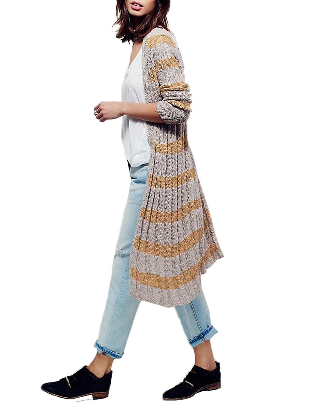 Miageek Women Long Sleeve Maxi Cardigan Outwear 0