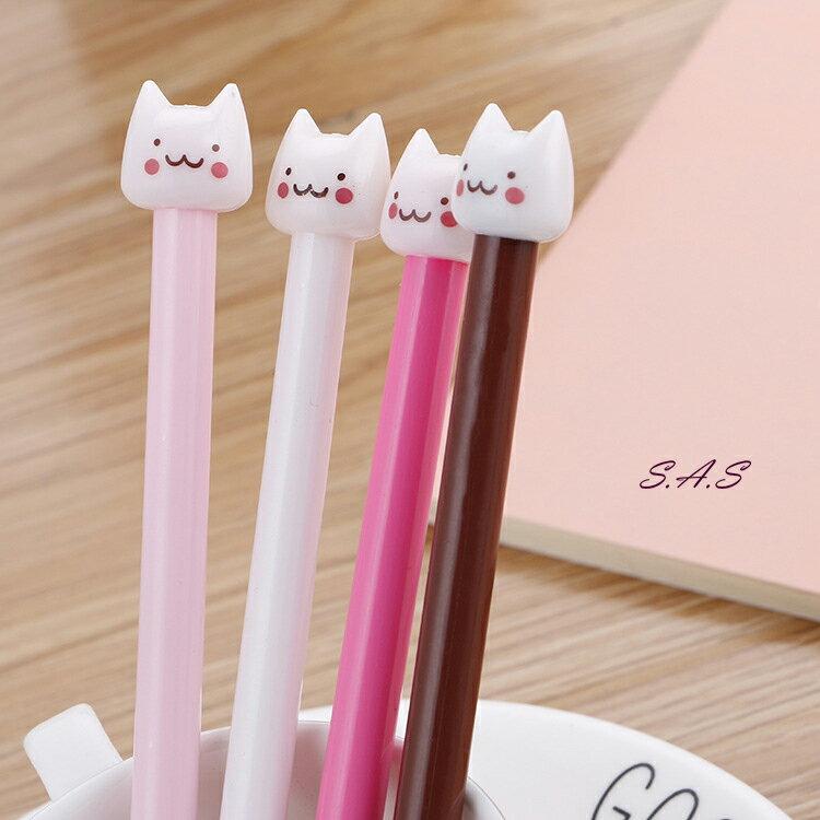 台灣現貨 熱銷 可愛萌萌貓咪造型筆 貓咪頭 中性筆 0.5mm滑順好寫 喵喵筆 婚禮小物 貓頭QQ原子筆 496