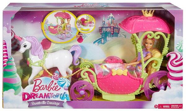 《MATTEL》芭比夢托邦甜甜村公主與四輪馬車