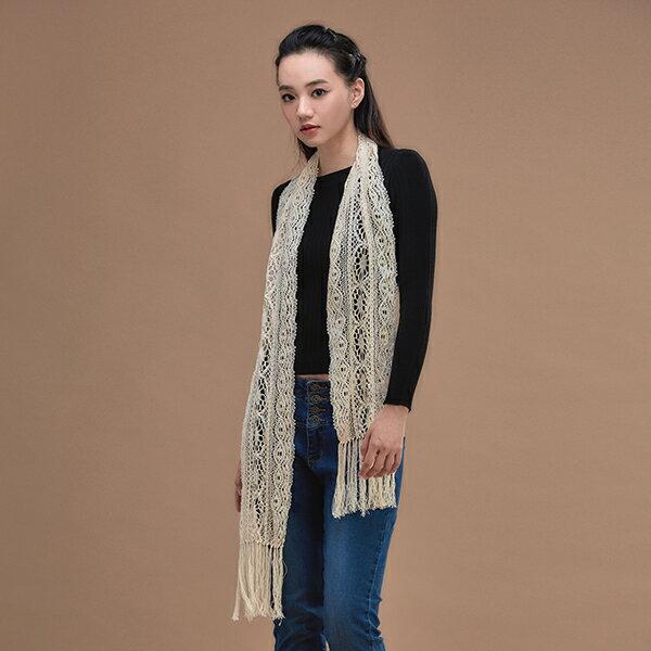 【樂芙莉LOVELY】漫步初秋100%有機棉圍巾(台灣製)