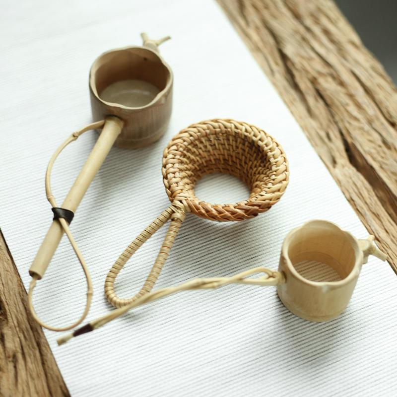 不梵 竹根茶漏 日式竹制茶濾茶濾網茶隔過濾器 功夫茶具零配件1入